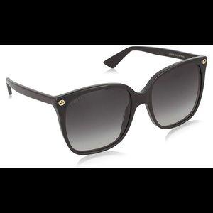 Gucci GG0022S 001 57-18 Black Sunglasses